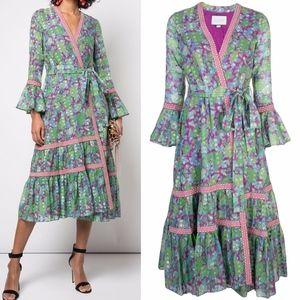 Alexis Marcas Floral Print Wrap Dress